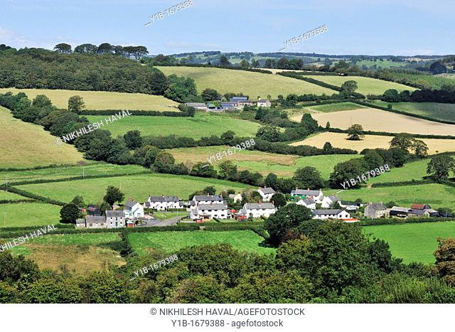 Brechfa village, Welsh countryside