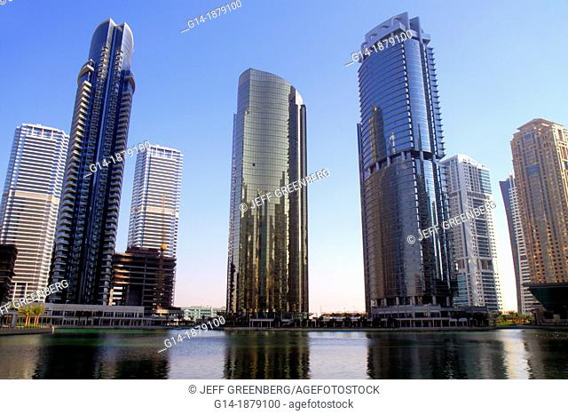 United Arab Emirates, U A E , UAE, Middle East, Dubai, Jumeirah Lake Towers, Platinum Tower, AU Tower, Concorde Tower, tall building, skyscraper, residential
