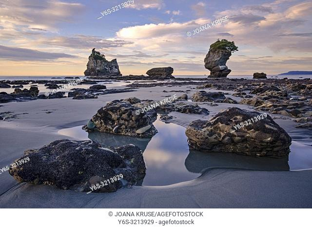 Motukiekie Beach, Greymouth, South Island, New Zealand