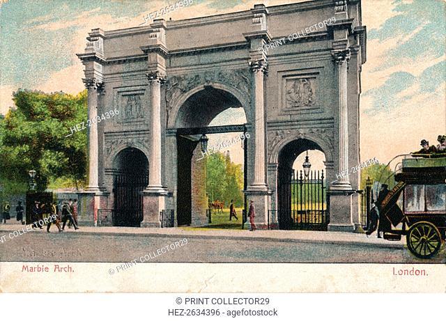 'Marble Arch, London', c1906. Artist: Unknown