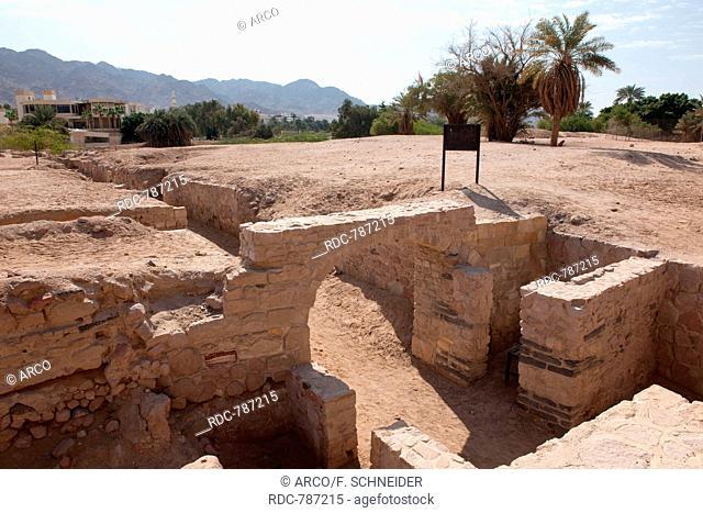excavated historic site of islamic city of Ayla, Aqaba, Jordan / Akaba