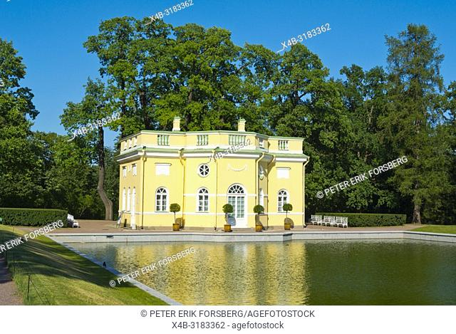 Upper Bathhouse, at Mirror Ponds, Catherine Park, Tsarskoye Selo, near Saint Petersburg, Russia