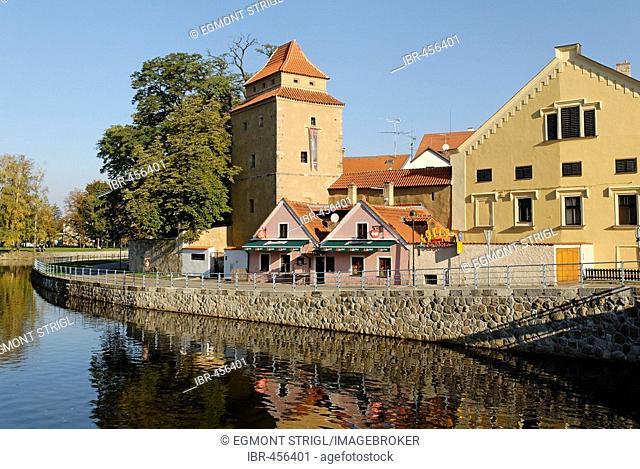 Historic old town of Ceske Budejovice, Budweis, Budvar, south Bohemia, Czech Republic