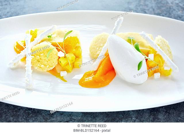 Close up of fresh orange salad