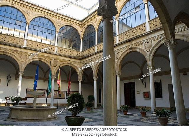 Courtyard of Patio de las Cadenas (Town Hall), Ubeda. Jaen province, Andalusia, Spain