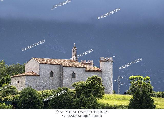 Ermita Virgen de la Guía in Llanes, Asturias, Spain