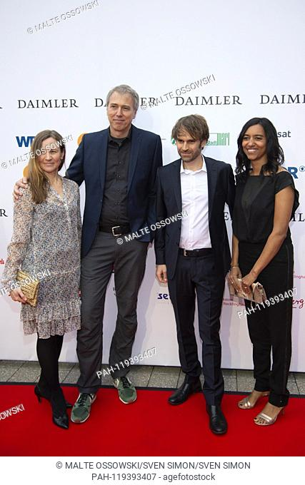 from left: xxxx xxxx David SPAETH, Director, Nathalie SPAETH, Red Carpet, Red Carpet Show, Arrival, arrival, 54th Presentation of the Adolf Grimme Award Adolf...