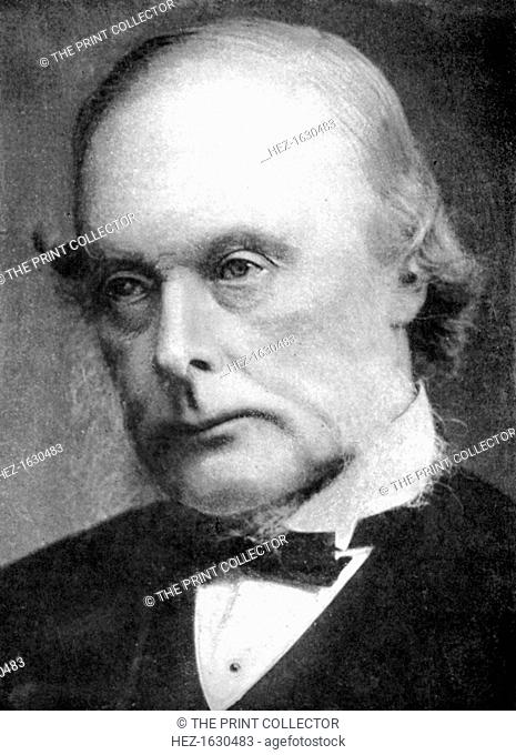 Joseph Lister (1827-1912), English surgeon and pioneer of antiseptic surgery, 1926. Lister made important discoveries on the microscopical investigations of...