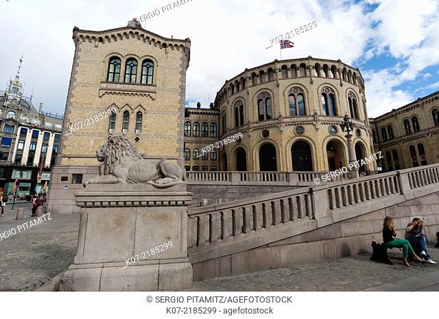 Parliament building, Oslo, Norway