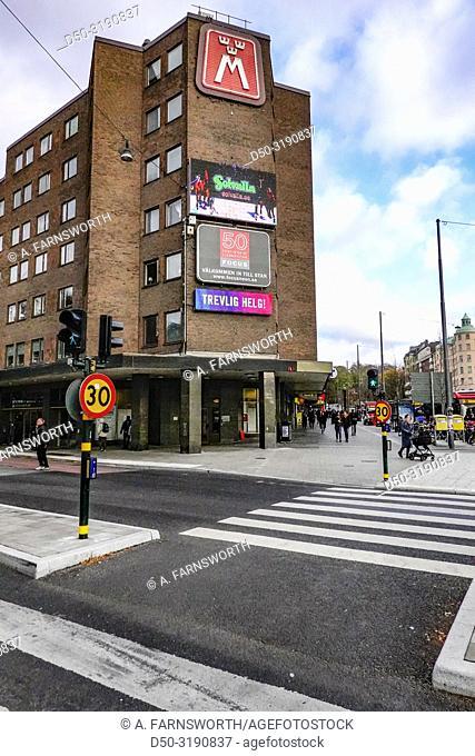 Stockholm, Sweden Fridhemplan, a main hub in central Stockholm
