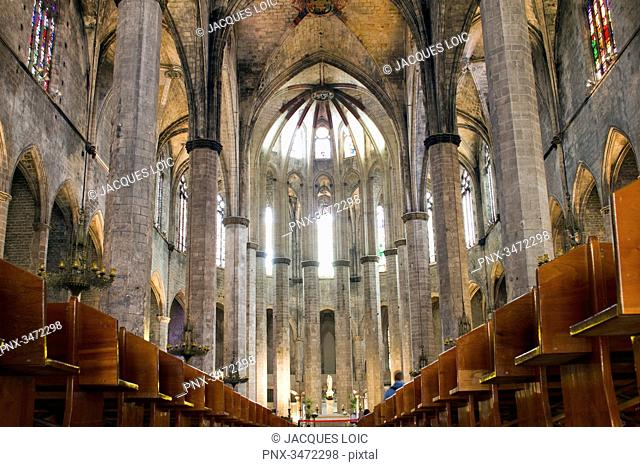 Spain, Catalonia, Barcelona, church of Santa Maria del Mar