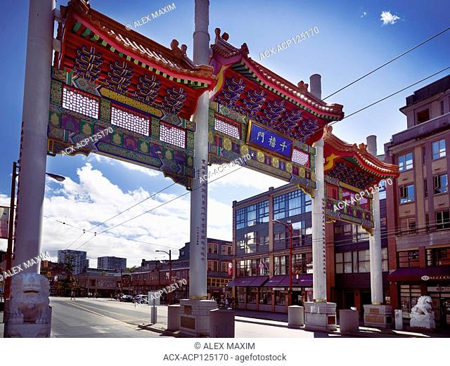 Chinatown Millennium Gate on Pender Street in Vancouver, British Columbia, Canada 2018
