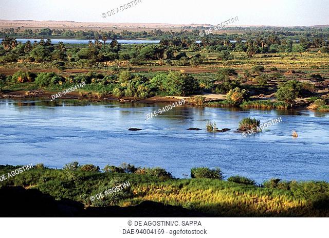 The Nile River near the Sixth Cataract, Nubia, Sudan