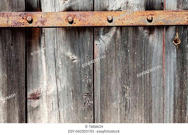 Background of old wooden gray, brown, shabby boards