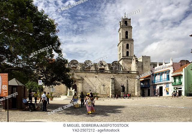 Sao Francisco Church on San Francisco Plaza in havana Cuba
