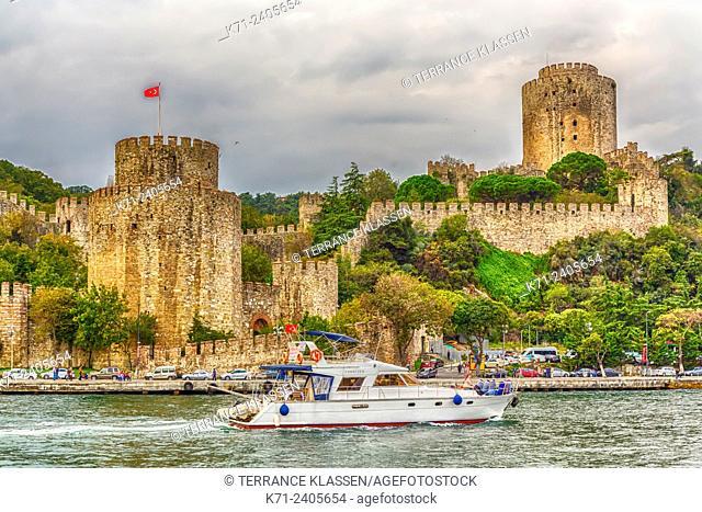 The Rumelihisar Castle along the Bosphorus near Istanbul, Turkey