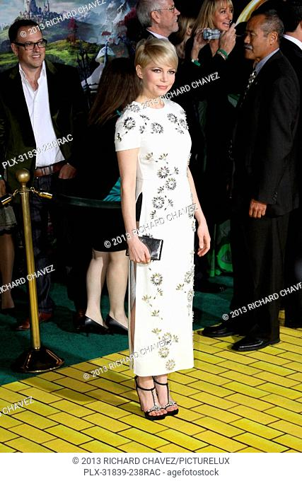 Michelle Williams at the World Premiere of Disney Pictures Oz The Great And Powerful. Arrivals held at the El Capitan Theater in Hollywood, CA, February 13