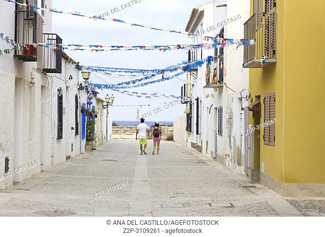 Street in Tabarca, is an islet located in the Mediterranean Sea, close to the town of Santa Pola, in the province of Alicante, Valencian community