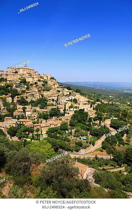 The hilltop village of Gourdes in Provence France