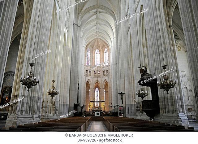 Saint Pierre and Saint Paul Cathedral, interior view, Nantes, Pays de la Loire, France, Europe