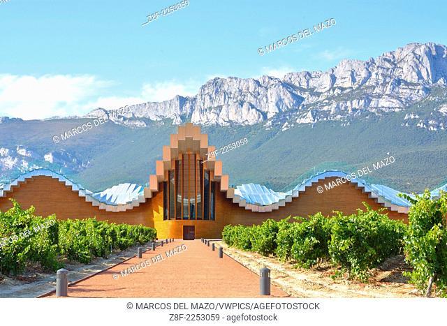 Ysios winery designed by Santiago Calatrava in La rioja, Spain