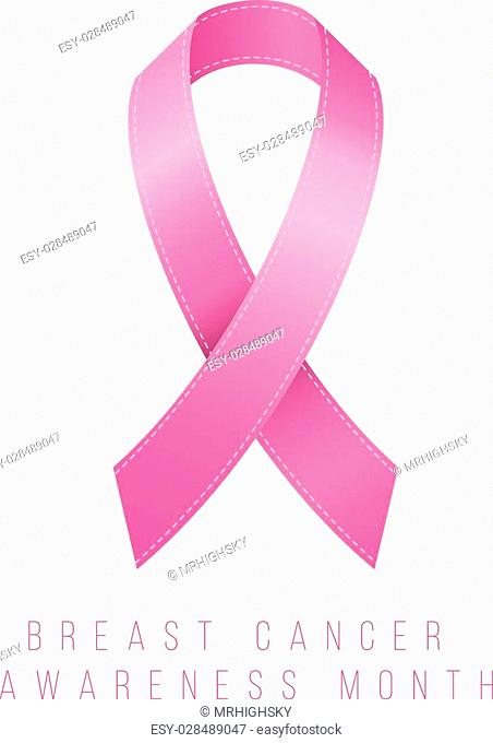 Pink ribbon breast cancer awareness concept design