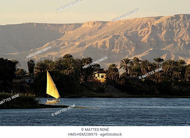Egypt, Upper Egypt, Nile Valley near Luxor