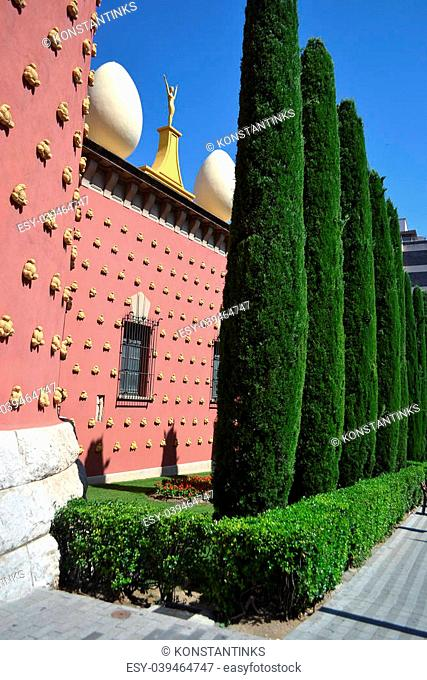 Salvador Dali museum in the center of the Catalan town of Figueres, Spain