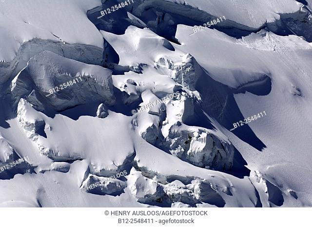Snow slab detached, Alps, France