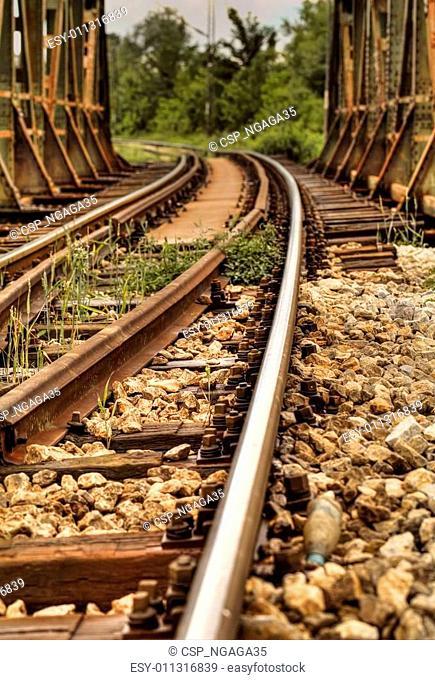 Railway tracks over the Bridge