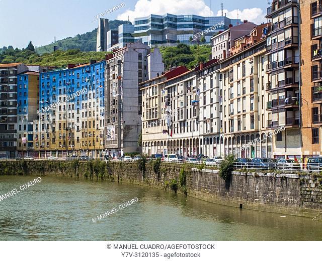 Muelle de Urazurrutia enBilbao la Vieja, Bilbao, Biscay, Basque Country, Spain