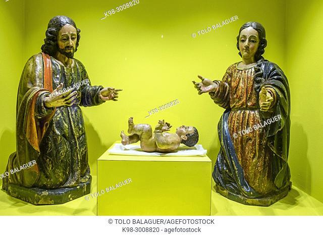 misterio de nacimiento, talla en madera encarnada, y policromada, siglo XVIII, museo colonial, Casa de Santo Domingo, antiguos templo y convento de Santo...