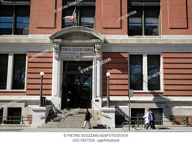 New York City, the Ethical Culture School, at 33 Central Park West, Upper West Side, Manhattan