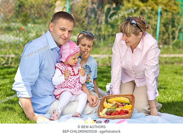 Family in the park