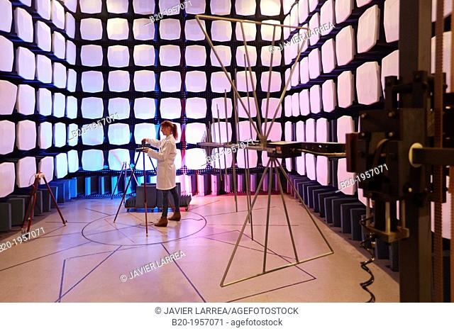 Anechoic chamber. EMC & Telecom Lab. Certification of Low Voltage Electrical & Electronic Products. Technological Services to Industry