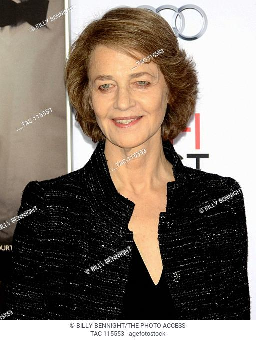 """Actress Charlotte Rampling arrives at the AFI FEST 2015 presented by Audi Tribute Screening of """"""""45 Years"""""""" at the TCL Chinese Theatre on November 11"""