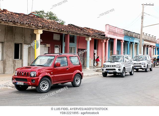 Cars rent for tourist in Moron, Ciego de Avila, Cuba