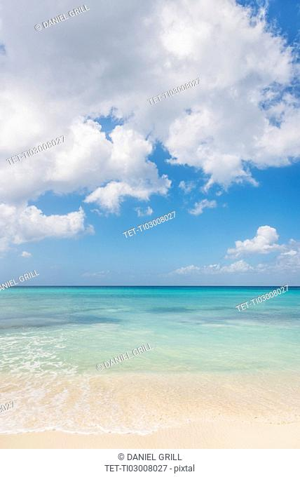 White clouds over tropical sea