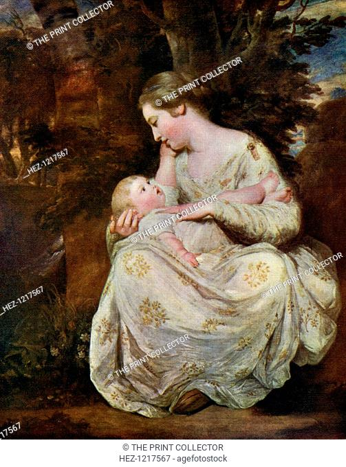 Mrs Richard Hoare and Child', 1763, (1912). A colour print from Famous Paintings with an Introduction by Gilbert Chesterton, Cassell and Company, London