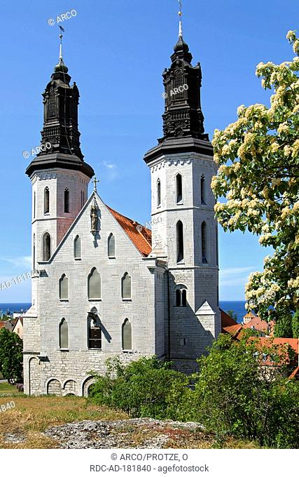 Cathedral of Visby, Hanseatic city Visby, Island of Gotland, Sweden, Sankt Maria Domkyrka
