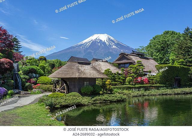 Yamanashi Province,Oshino Mura, Minami Tsuru District,Shibosuka, garden