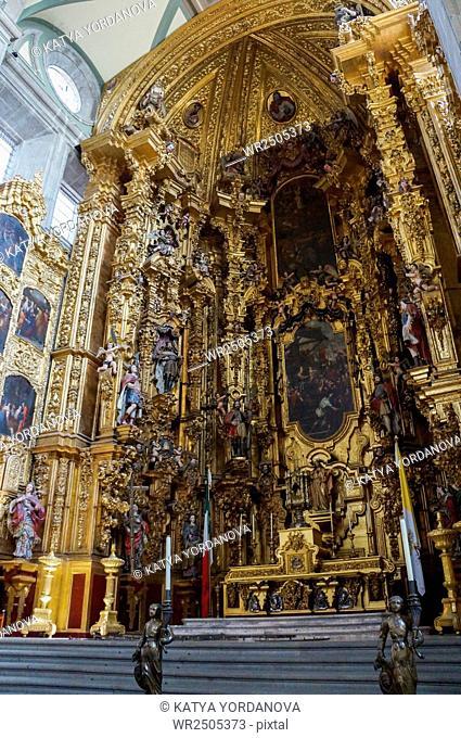 Interior of Metropolitan Cathedral Mexico City, Mexico