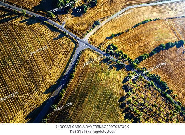 Crossroads, Balaguer, Lleida province, Catalonia, Spain