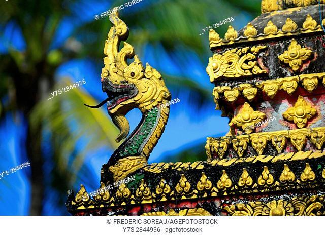 Dragon statue,Don Khong island,South Laos,Southeast Asia