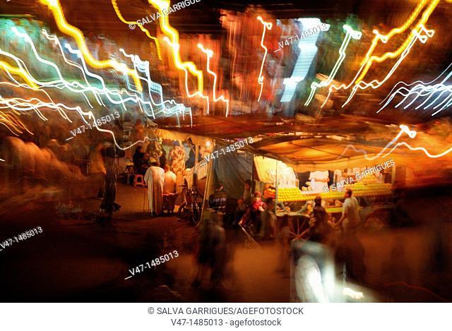 Jamaa el Fna, Jemaa el Fna Square, Marrakech, Morocco, Africa