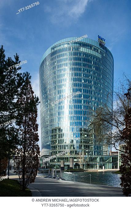 'Viertel Zwei' modern business and residential district with OMV building. Vienna, Austria