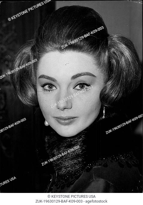 Jan. 29, 1963 - A reception was held in a Roman hotel for the presentation of the film 'Le quattro Verita' (The four truths)