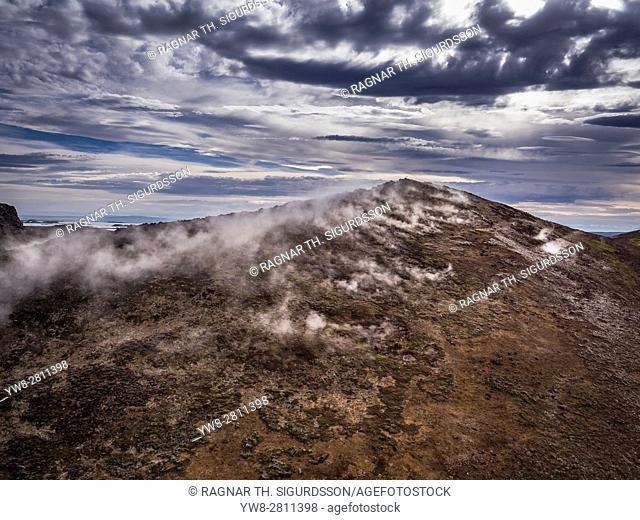 Geothermal Area near Bjarnarflag Geothermal Plant, Iceland