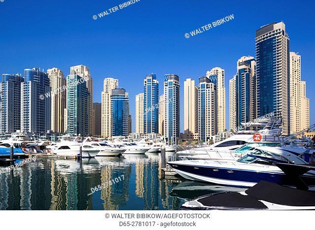 UAE, Dubai, Dubai Marina, high rise buildings