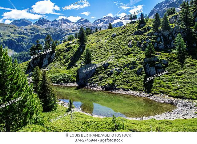 lake of thuilette,la thuile,val d'aoste,italy